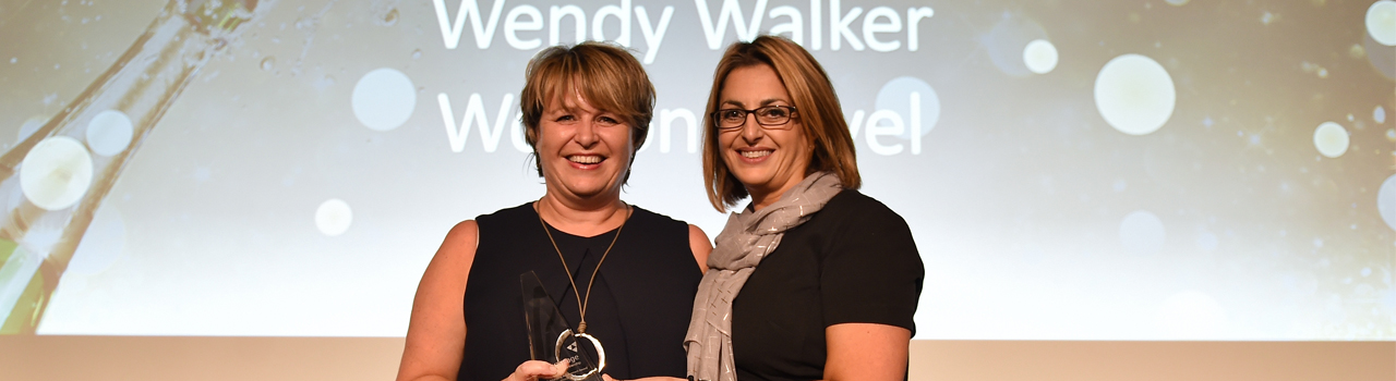 Wendy Walker of Wotton Travel Ltd wins Outstanding Achievement Award